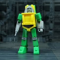 Brawn_1X1_1.jpg Download free STL file G1 Transformers Brawn • 3D printer object, Toymakr3D