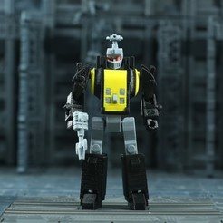 Bombshell_1X1_1.jpg Download free STL file G1 Transformers Bombshell - No Support • 3D print design, Toymakr3D