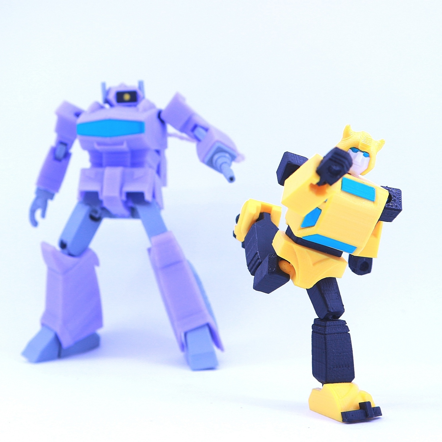 bee8.jpg Download free STL file ARTICULATED G1 TRANSFORMERS BUMBLEBEE - NO SUPPORT • 3D printing model, Toymakr3D