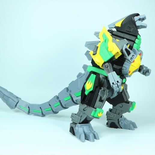 Drag_1X1_3.jpg Download STL file ARTICULATED DRAGONLORD (not Dragonzord) - NO SUPPORT • 3D printer model, Toymakr3D