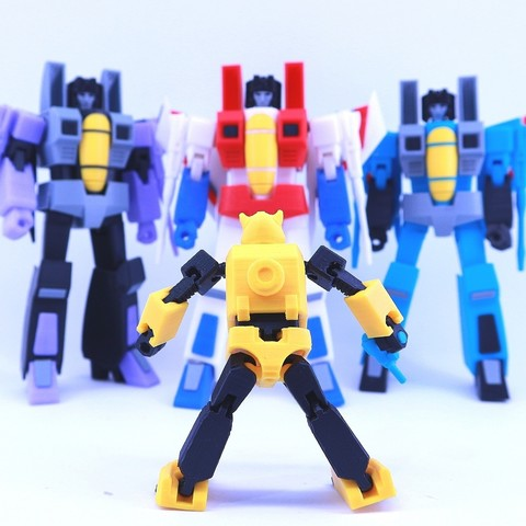 bee9.jpg Download free STL file ARTICULATED G1 TRANSFORMERS BUMBLEBEE - NO SUPPORT • 3D printing model, Toymakr3D