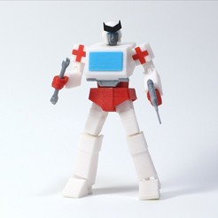 IMG_20200418_214910.jpg Download free STL file ARTICULATED G1 TRANSFORMERS RATCHET - NO SUPPORT • 3D printing model, Toymakr3D