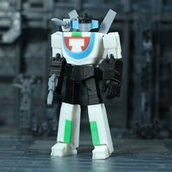 Download free STL file G1 Transformers Wheeljack - No Support • 3D print object, Toymakr3D