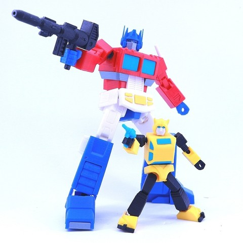 bee5.jpg Download free STL file ARTICULATED G1 TRANSFORMERS BUMBLEBEE - NO SUPPORT • 3D printing model, Toymakr3D