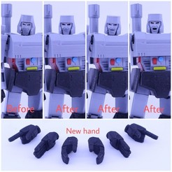 Free 3D printer files HEAD AND HAND UPGRADE FOR GUNMASTER - NO SUPPORT, Reza_Aulia