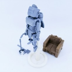 Download free 3D printer model Articulated Housekeeper Robot 3.75 Inch - No Support, Toymakr3D