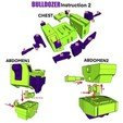 Télécharger STL Bulldozer articulé (pas Devastator) - Pas de soutien, Reza_Aulia