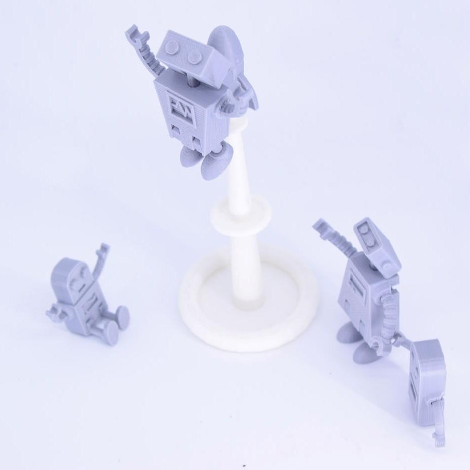 Curls3D1.jpg Télécharger fichier STL gratuit Famille de robots Simple Pas de soutien • Plan imprimable en 3D, Toymakr3D