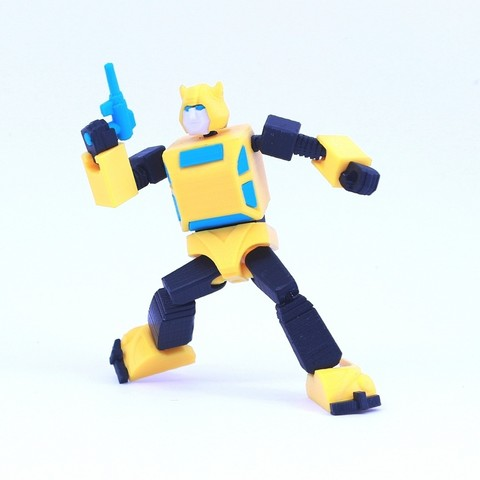 bee4.jpg Download free STL file ARTICULATED G1 TRANSFORMERS BUMBLEBEE - NO SUPPORT • 3D printing model, Toymakr3D