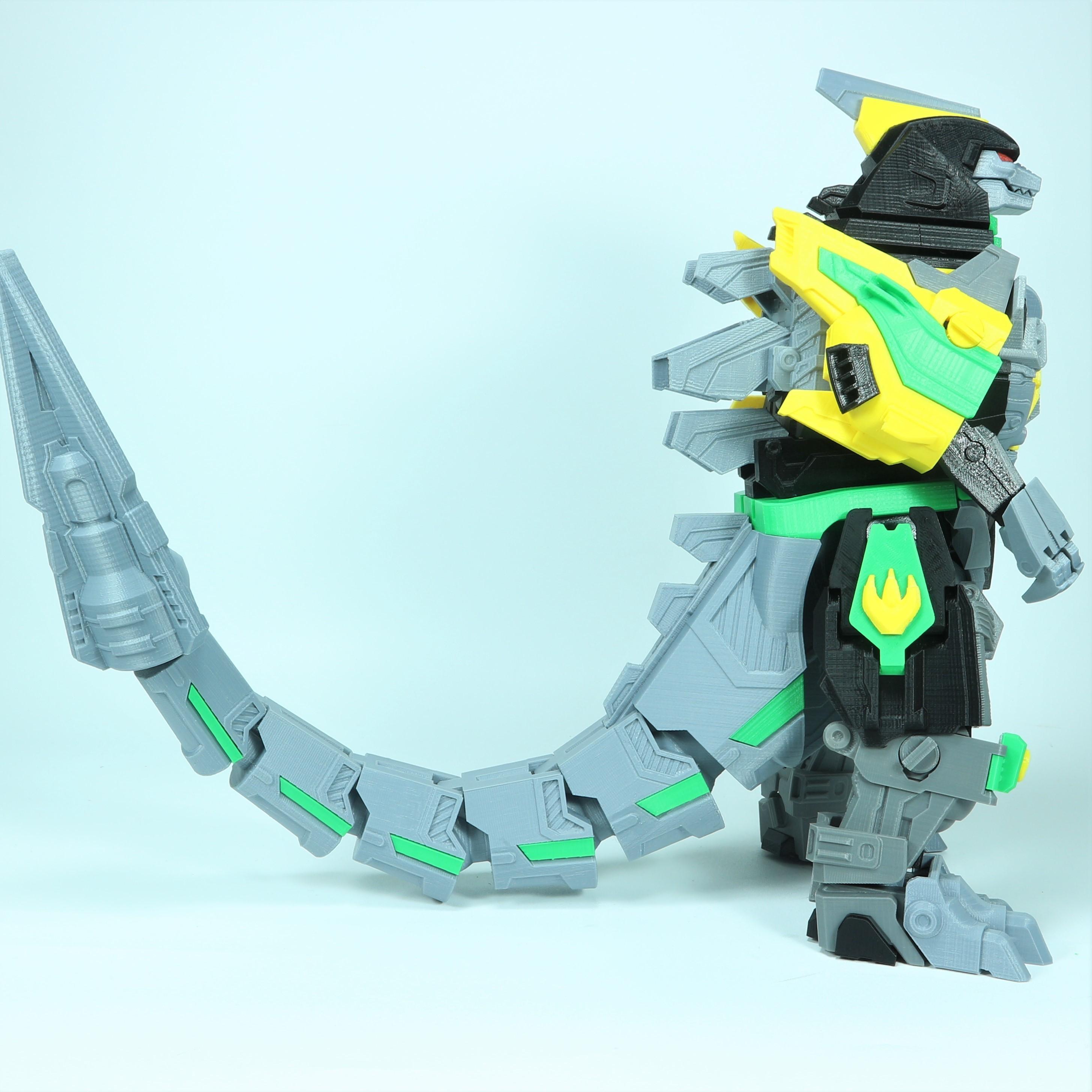 Drag_1X1_4.jpg Download STL file ARTICULATED DRAGONLORD (not Dragonzord) - NO SUPPORT • 3D printer model, Toymakr3D