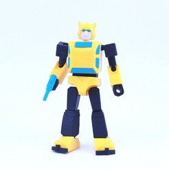 bee1.jpg Download free STL file ARTICULATED G1 TRANSFORMERS BUMBLEBEE - NO SUPPORT • 3D printing model, Toymakr3D