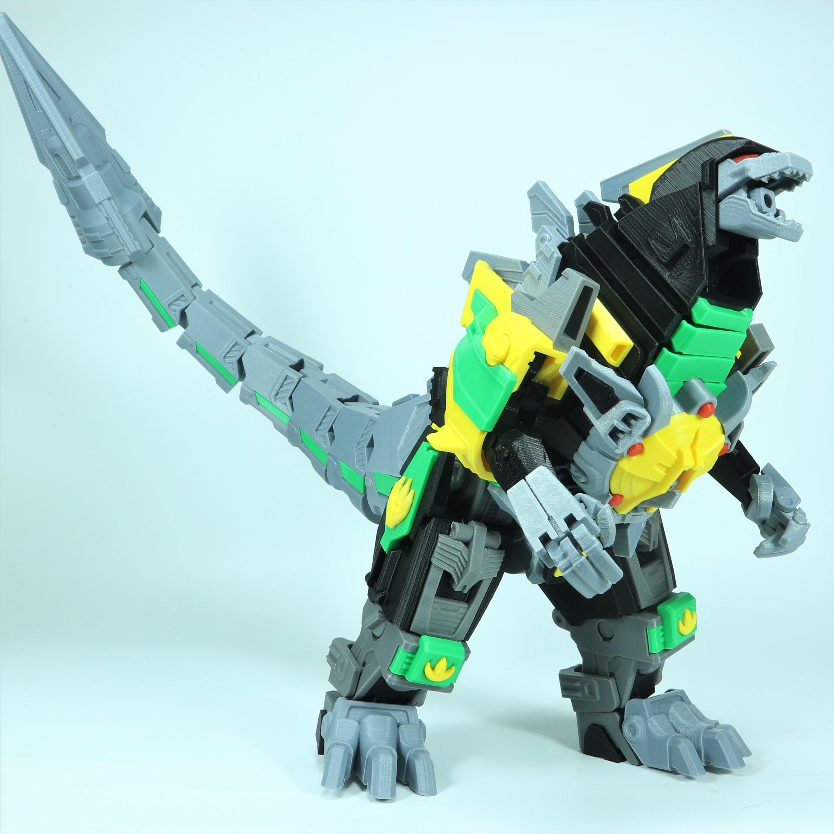 Drag_1X1_8.jpg Download STL file ARTICULATED DRAGONLORD (not Dragonzord) - NO SUPPORT • 3D printer model, Toymakr3D
