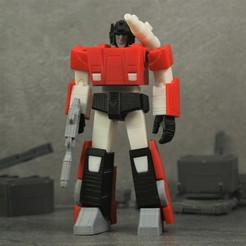 Download free 3D print files G1 Transformers Sideswipe - No Support, Toymakr3D