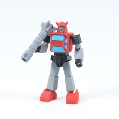 Download free 3D print files Articulated G1 Transformers Cliffjumper - No Support, Toymakr3D