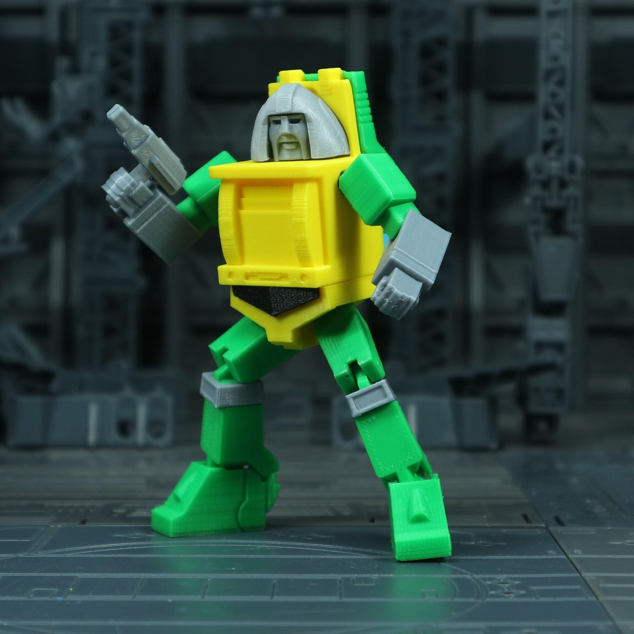 Brawn_1X1_3.jpg Download free STL file G1 Transformers Brawn • 3D printer object, Toymakr3D