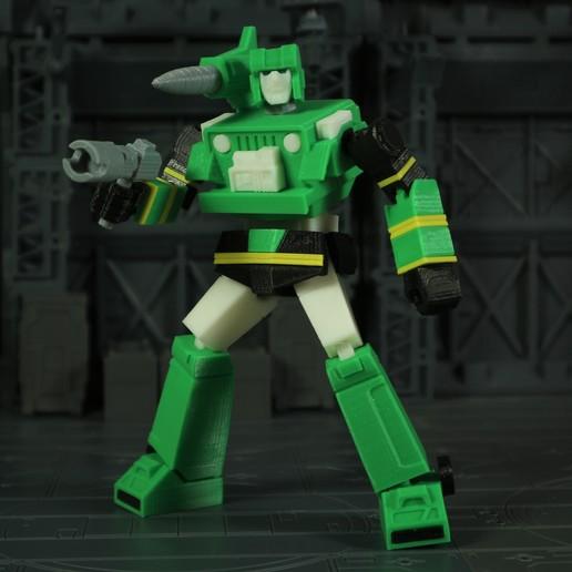 Télécharger objet 3D gratuit G1 Transformers Hound - Pas de soutien, Toymakr3D