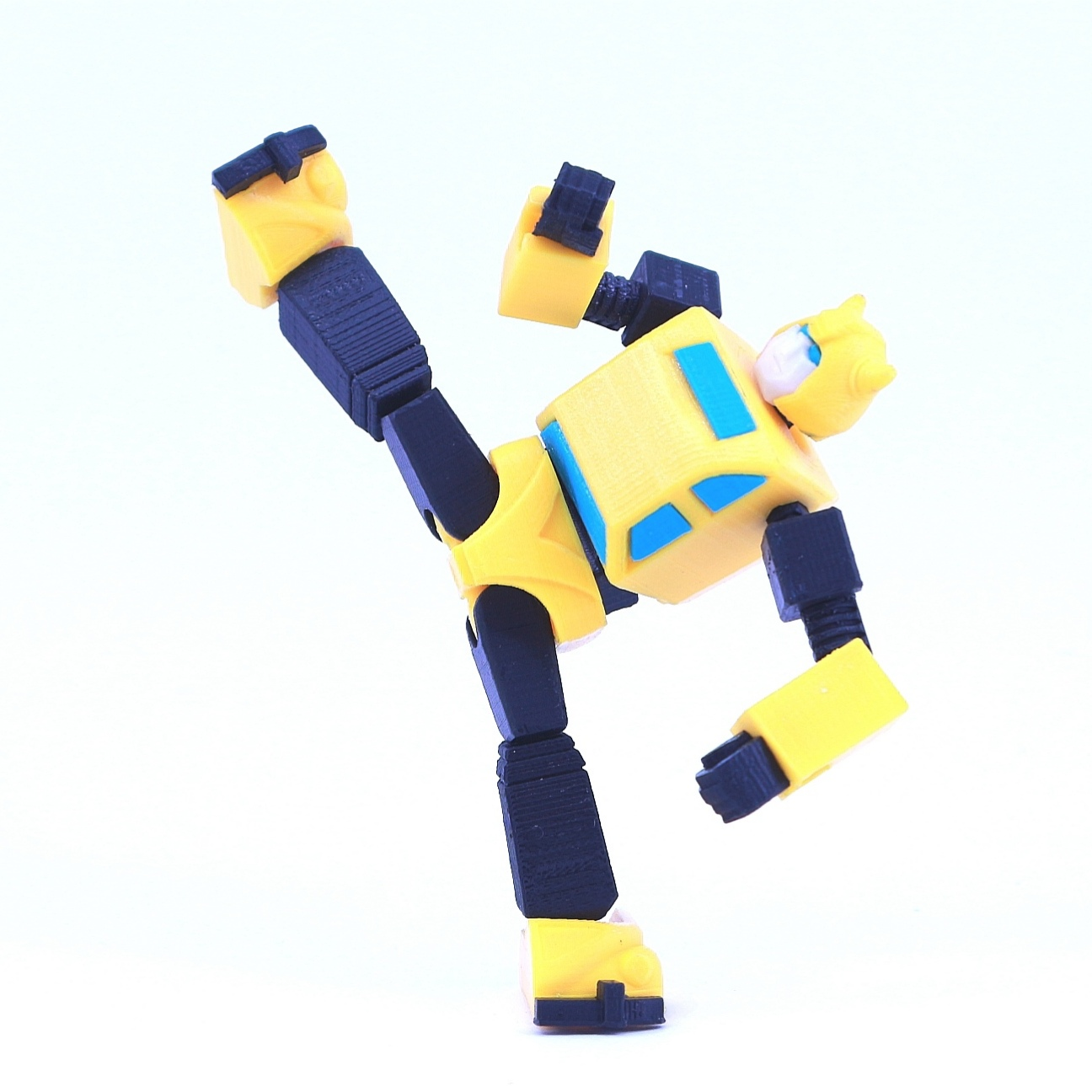 bee10.jpg Download free STL file ARTICULATED G1 TRANSFORMERS BUMBLEBEE - NO SUPPORT • 3D printing model, Toymakr3D