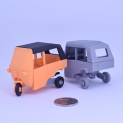 Download free STL Classic 3 Wheels Car no support, Toymakr3D