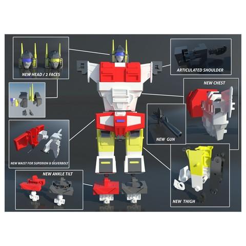 5.jpg Download STL file KO TFC Uranos Upgrade Kit IDW Ver • 3D printer object, Toymakr3D