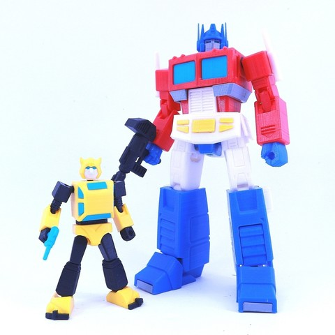 bee6.jpg Download free STL file ARTICULATED G1 TRANSFORMERS BUMBLEBEE - NO SUPPORT • 3D printing model, Toymakr3D