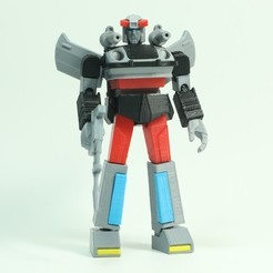 Download free 3D printer designs G1 Transformers Bluestreak - No Support, Toymakr3D