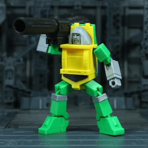 Brawn_1X1_4.jpg Download free STL file G1 Transformers Brawn • 3D printer object, Toymakr3D