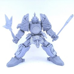 3D print files Articulated Lightning Samurai Not Thunder Megazord No Support, Reza_Aulia