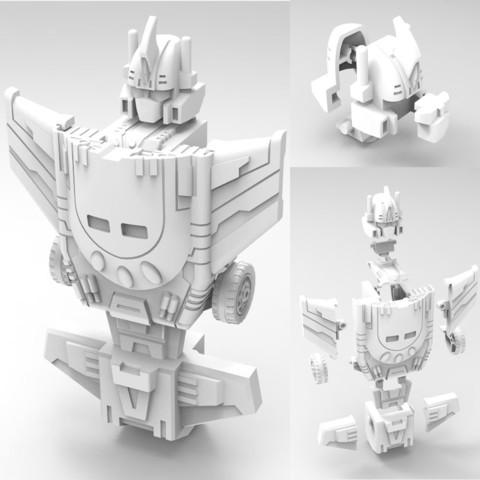 5.jpg Download STL file Jinbao Not Bruticus Upgrade Kit G1 Ver • 3D print template, Toymakr3D