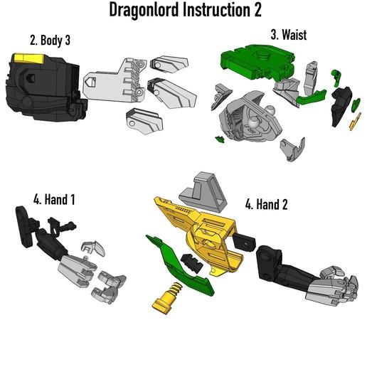 Dragon_Istruction2.JPG Download STL file ARTICULATED DRAGONLORD (not Dragonzord) - NO SUPPORT • 3D printer model, Toymakr3D