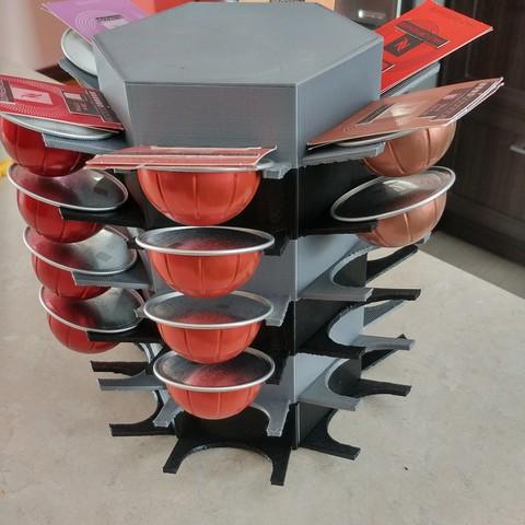 3d printer model holder for vertuo capsules cults. Black Bedroom Furniture Sets. Home Design Ideas