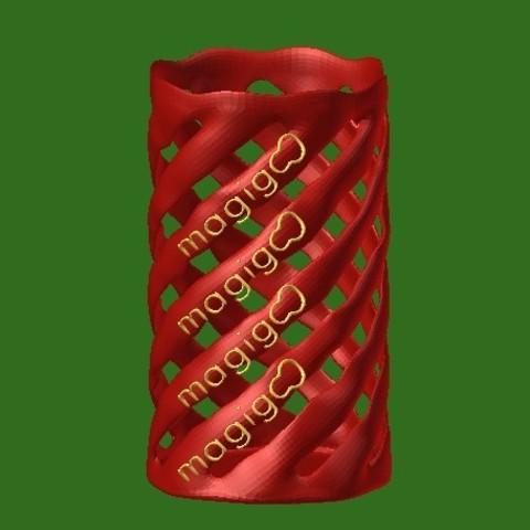 lattice holder1.jpg Download free STL file Lattice Pencil Holder • 3D printable model, mateasse