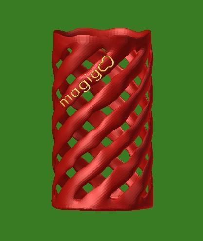 lattice holder.jpg Download free STL file Lattice Pencil Holder • 3D printable model, mateasse