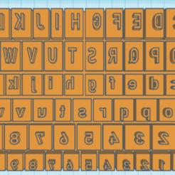 Download 3D printer designs ceramic alphabet, cqcretador123