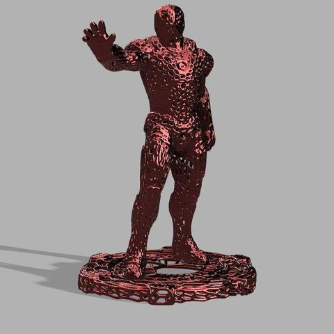 Iron Man Voronoi.jpg Download free STL file Iron Man Voronoi! • 3D printing object, jeff_vaesken