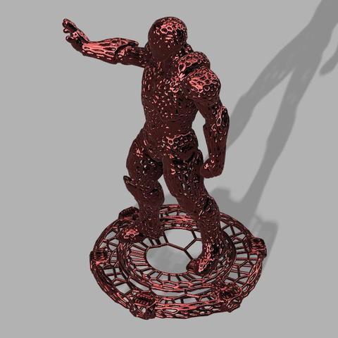 ironman voronoi 2.jpg Download free STL file Iron Man Voronoi! • 3D printing object, jeff_vaesken