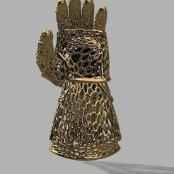 Free 3D printer designs Hand of Thanos or Gauntlet Thanos, jeff_vaesken