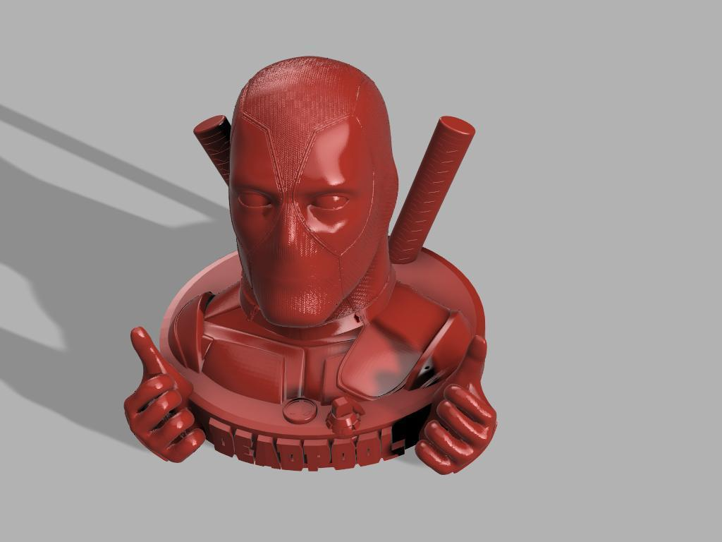 Dead pool 2 mains et 1 grenade .jpg Download free STL file DeadPool • 3D printer object, jeff_vaesken