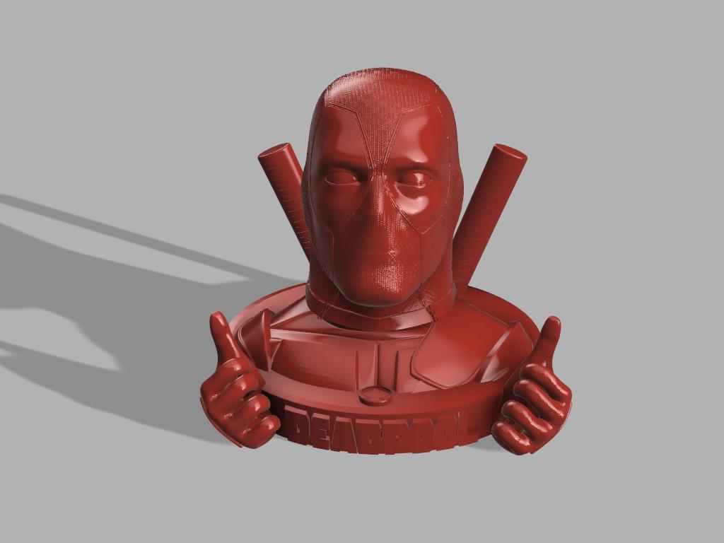 Dead Pool 2 mains sans grenade.jpg Download free STL file DeadPool • 3D printer object, jeff_vaesken
