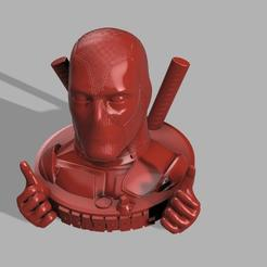 Dead pool 2 mains et 1 grenade .jpg Télécharger fichier STL gratuit DeadPool revisited 2 • Plan pour imprimante 3D, jeff_vaesken