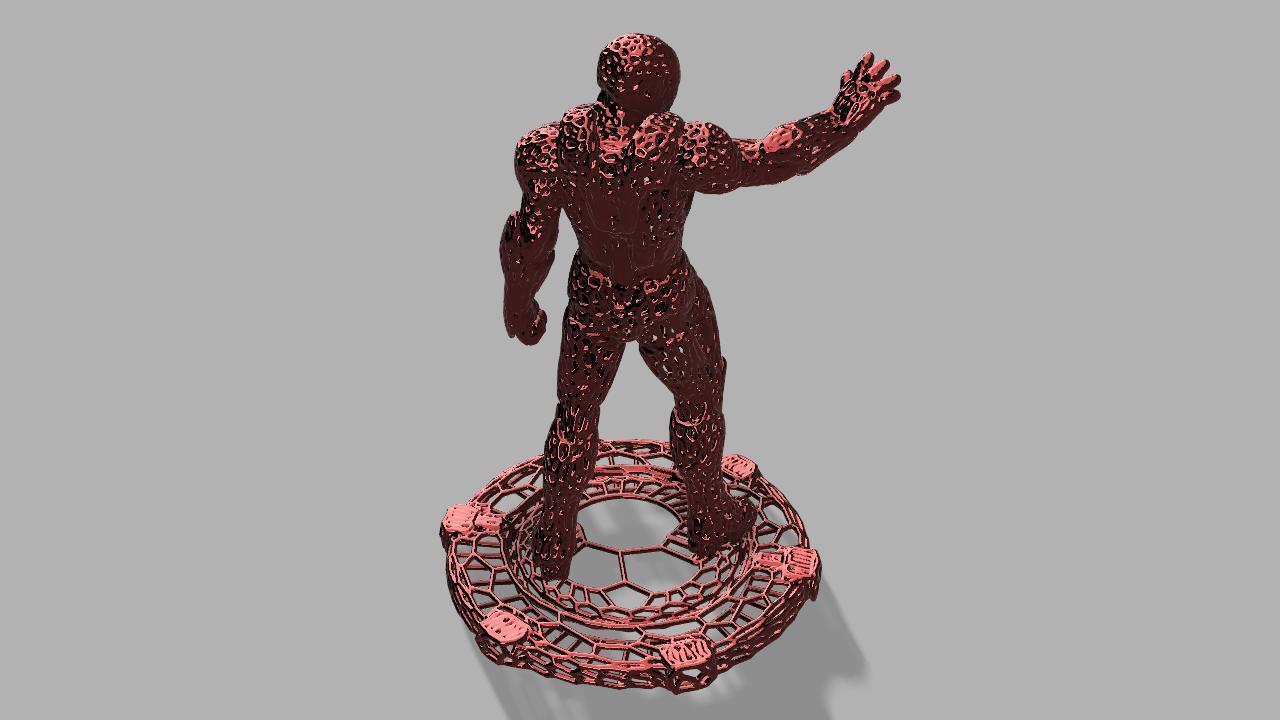 ironman voronoi final.jpg Download free STL file Iron Man Voronoi! • 3D printing object, jeff_vaesken