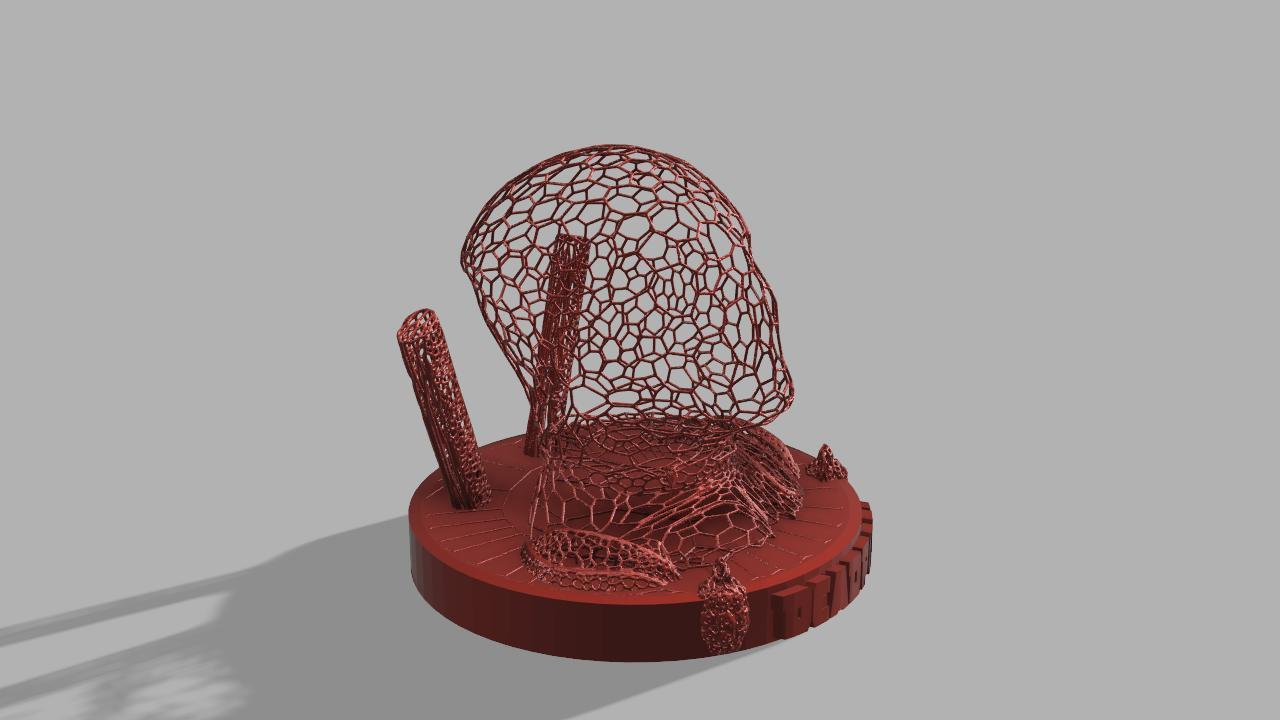 Deadpool Voronoi.jpg Download free STL file DeadPool Voronoi • 3D printer object, jeff_vaesken