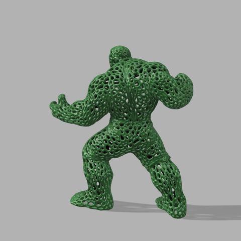 Stl gratuit hulk voronoi by jeff cults - Telecharger hulk ...