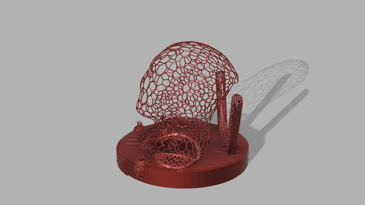 Deadpool Voronoi 3.jpg Download free STL file DeadPool Voronoi • 3D printer object, jeff_vaesken