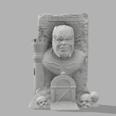 Thanos the sanctuary V1.jpg Download free STL file Thanos: The sanctuary! • 3D printer template, jeff_vaesken