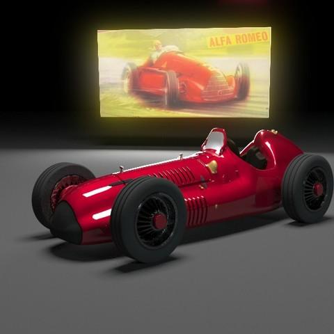 Modelos 3D gratis Alfa romeo tipo 158, skofictadej287