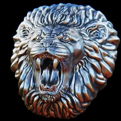 3d print files Roaring Lion Head, frederico4d