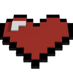 Download free 3D model Heart 8 Bits, Juanmaelrojo