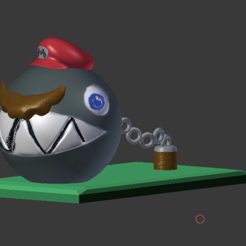 mARIO cHAIN cHOMP.png Download STL file Super Mario Odyssey Chain Chomp Mario • 3D printable template, VertexMachine