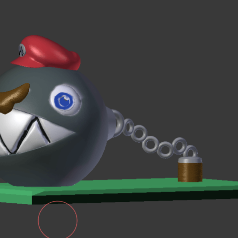 mARIO cHAIN cHOMP2.png Download STL file Super Mario Odyssey Chain Chomp Mario • 3D printable template, VertexMachine