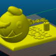 Chomp Mario W stand.png Download STL file Super Mario Odyssey Chain Chomp Mario • 3D printable template, VertexMachine